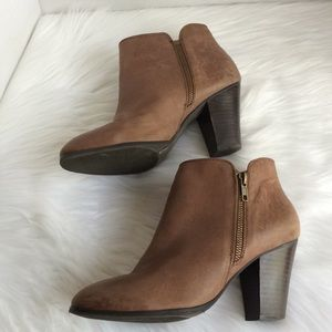 Sole Society Sz 8 brown bootie leather